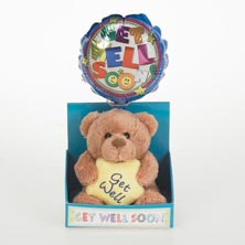 Lotsa Love Get Well Soon Little Bear & Balloon